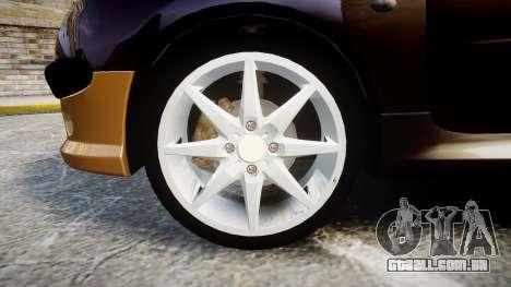 Peugeot 206 XS 1999 para GTA 4 vista de volta