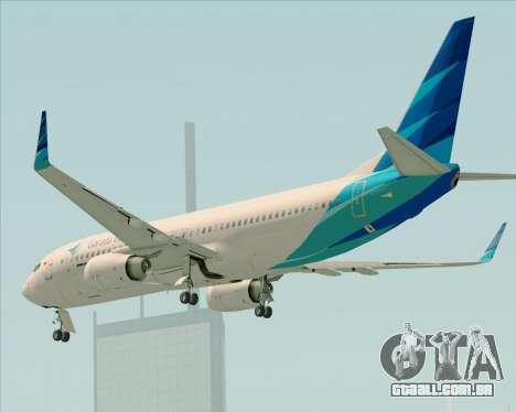Boeing 737-800 Garuda Indonesia para GTA San Andreas vista inferior