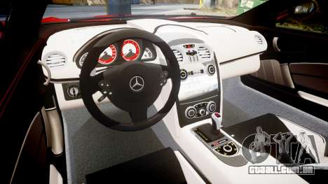 Mercedes-Benz SLR 722 2005 para GTA 4 vista interior