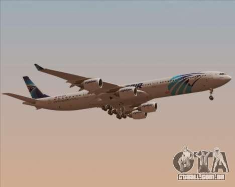 Airbus A340-600 EgyptAir para vista lateral GTA San Andreas