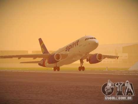 Airbus A319-132 Spirit Airlines para GTA San Andreas esquerda vista