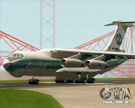 IL-76TD ALROSA para GTA San Andreas vista superior