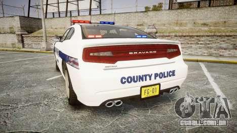 GTA V Bravado Buffalo Liberty Police [ELS] para GTA 4 traseira esquerda vista