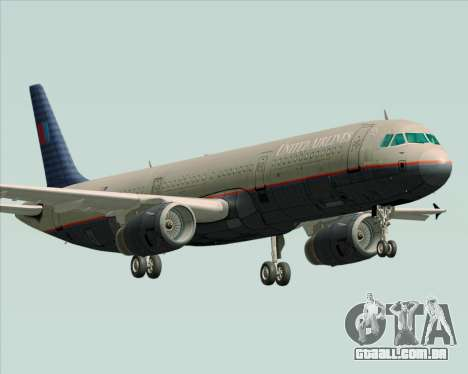 Airbus A321-200 United Airlines para GTA San Andreas