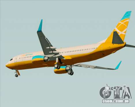 Boeing 737-800 Orbit Airlines para GTA San Andreas vista traseira