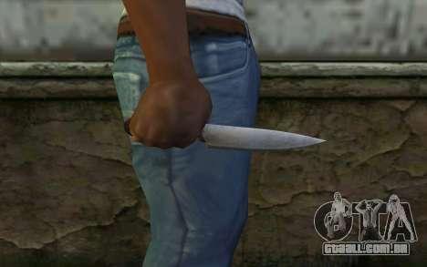 Faca De Cozinha (DayZ Standalone) para GTA San Andreas terceira tela