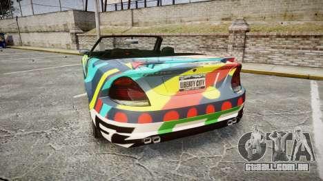 Benefactor Feltzer Grey Series v2 para GTA 4 traseira esquerda vista