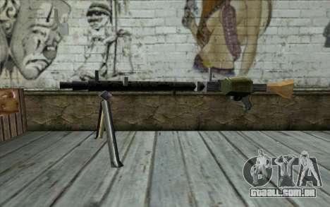 MG-34 from Day of Defeat para GTA San Andreas