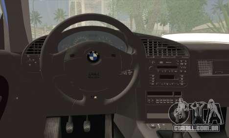 BMW M3 E36 Cabrio para GTA San Andreas traseira esquerda vista