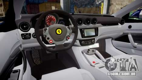 Ferrari FF 2012 Pininfarina Blue para GTA 4 vista interior