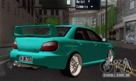 Subaru Impreza RC para GTA San Andreas esquerda vista