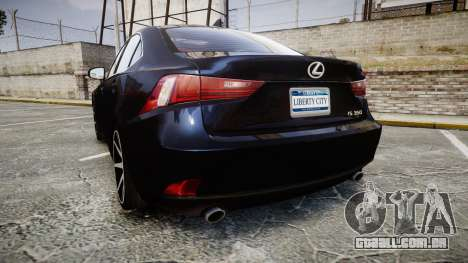 Lexus IS 350 F-Sport 2014 Rims2 para GTA 4 traseira esquerda vista