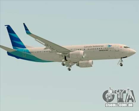 Boeing 737-800 Garuda Indonesia para GTA San Andreas traseira esquerda vista