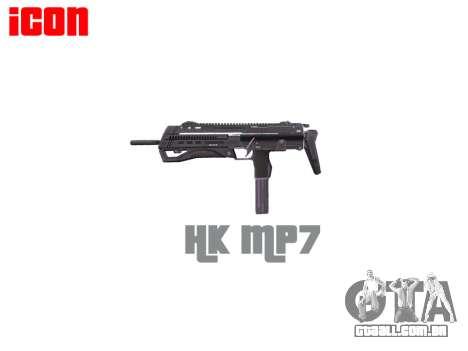 Submetralhadora HK MP7 para GTA 4 terceira tela