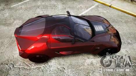 Bertone Mantide 2009 para GTA 4 vista direita