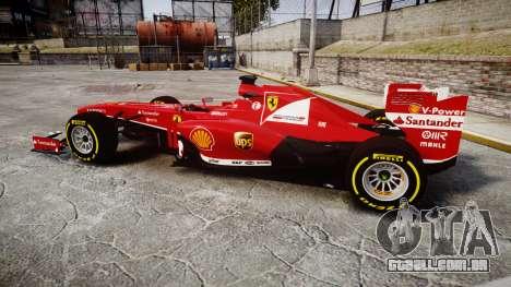 Ferrari F138 v2.0 [RIV] Alonso TSD para GTA 4 esquerda vista