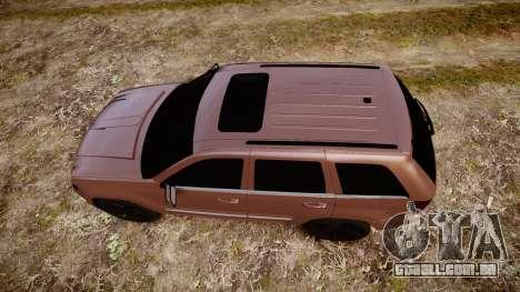 Jeep Grand Cherokee SRT8 rim lights para GTA 4 vista direita