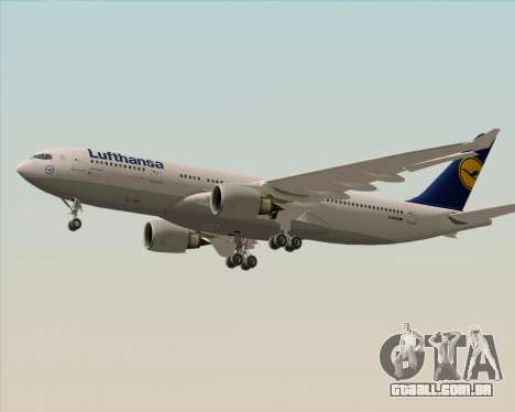 Airbus A330-200 Lufthansa para GTA San Andreas traseira esquerda vista