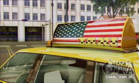 VAPID Huntley Taxi (Saints Row 4 Style) para GTA San Andreas traseira esquerda vista