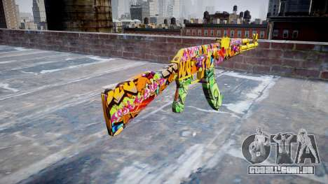АК-47 graffiti camo para GTA 4 segundo screenshot