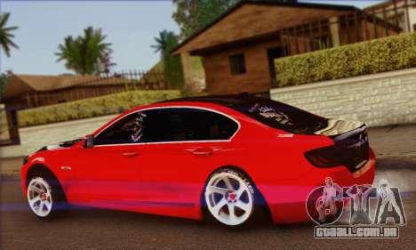 BMW 535i F10 Stance Works para GTA San Andreas esquerda vista