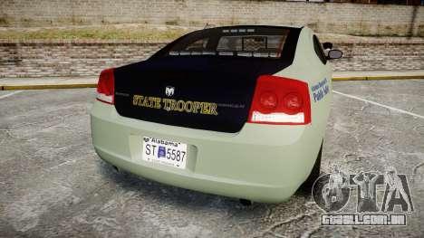 Dodge Charger 2010 Alabama State Troopers [ELS] para GTA 4 traseira esquerda vista