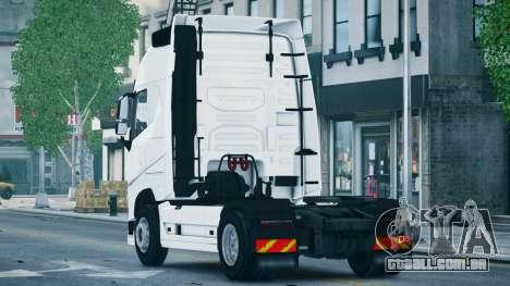 Volvo FH16 Truck para GTA 4 esquerda vista