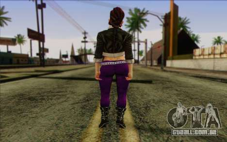 Shaundi from Saints Row The Third para GTA San Andreas segunda tela