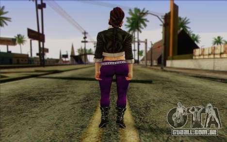 Shaundi from Saints Row The Third para GTA San Andreas segunda tela