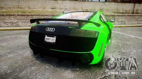 Audi R8 GT Coupe 2011 Yoshino para GTA 4 traseira esquerda vista