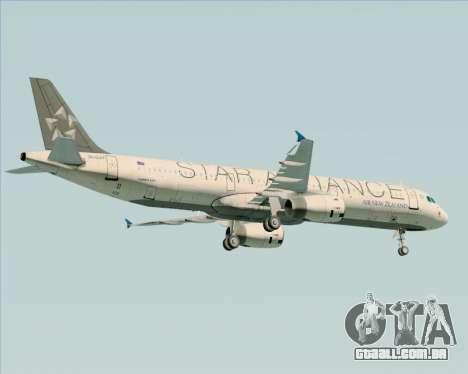 Airbus A321-200 Air New Zealand (Star Alliance) para o motor de GTA San Andreas