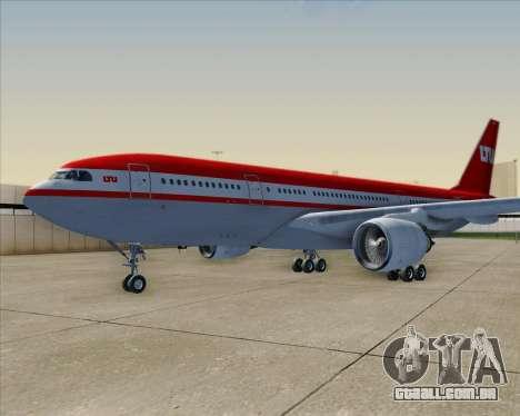Airbus A330-200 LTU International para as rodas de GTA San Andreas