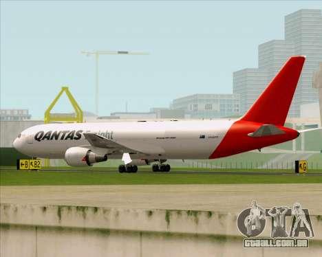 Boeing 767-300F Qantas Freight para GTA San Andreas traseira esquerda vista