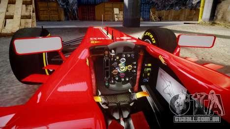 Ferrari F138 v2.0 [RIV] Alonso TSD para GTA 4 vista interior