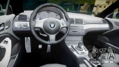 BMW M3 E46 2001 Tuned Wheel Gold para GTA 4 vista de volta
