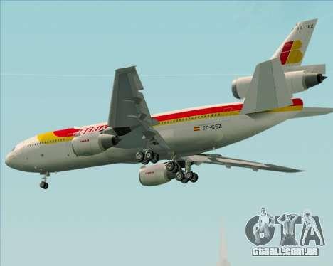 McDonnell Douglas DC-10-30 Iberia para GTA San Andreas vista direita