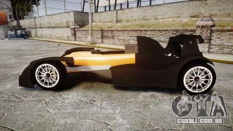 Caparo T1 para GTA 4 esquerda vista