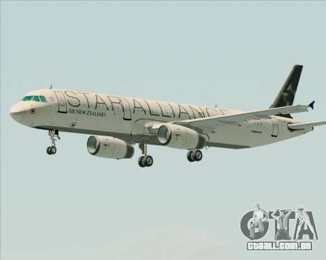Airbus A321-200 Air New Zealand (Star Alliance) para as rodas de GTA San Andreas