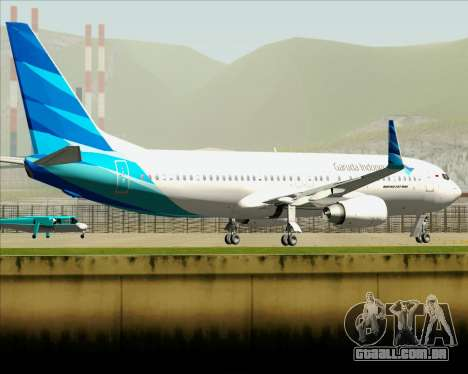 Boeing 737-800 Garuda Indonesia para GTA San Andreas vista superior