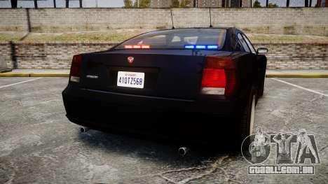 GTA V Bravado FIB Buffalo [ELS] para GTA 4 traseira esquerda vista