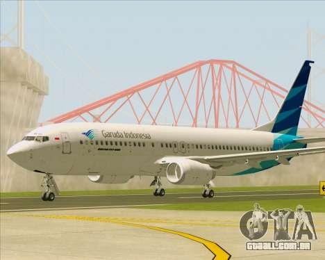 Boeing 737-800 Garuda Indonesia para GTA San Andreas esquerda vista