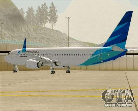 Boeing 737-800 Garuda Indonesia para o motor de GTA San Andreas