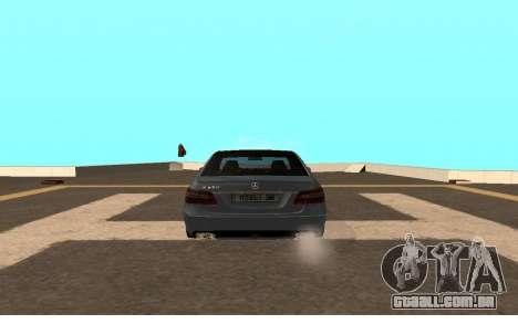 Mercedes-Benz W212 (Wheeljack from TF 3) para GTA San Andreas traseira esquerda vista