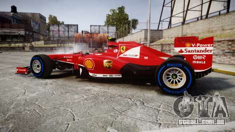 Ferrari F138 v2.0 [RIV] Massa TFW para GTA 4 esquerda vista