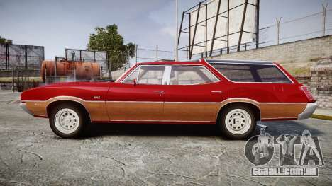 Oldsmobile Vista Cruiser 1972 Rims1 Tree2 para GTA 4 esquerda vista