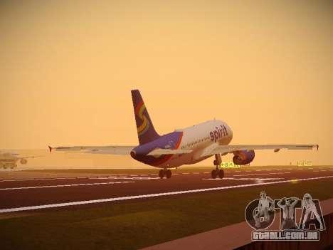 Airbus A319-132 Spirit Airlines para as rodas de GTA San Andreas