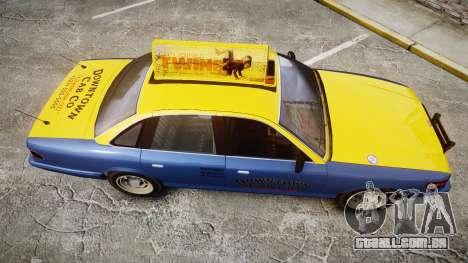 Vapid Stanier Taxi DCC para GTA 4 vista direita