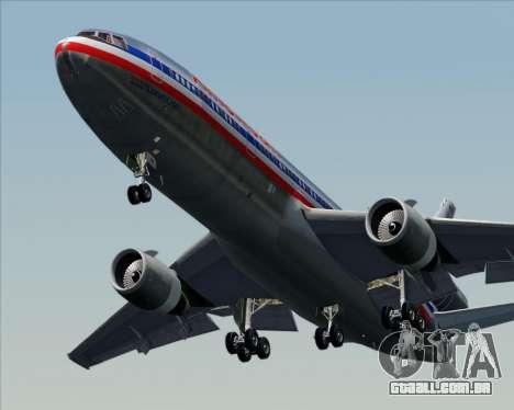 McDonnell Douglas DC-10-30 American Airlines para GTA San Andreas vista superior