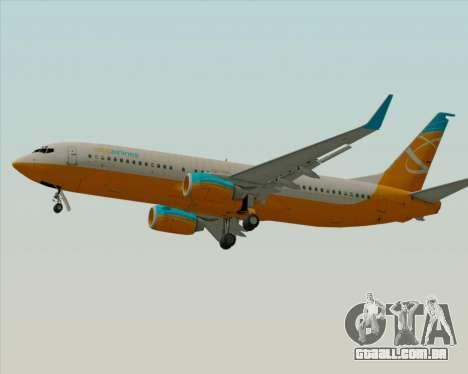 Boeing 737-800 Orbit Airlines para vista lateral GTA San Andreas