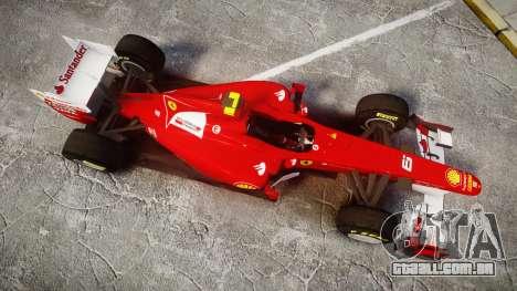 Ferrari 150 Italia Massa para GTA 4 vista direita